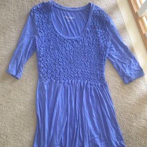 Soft Surroundings Ruffled Violet Long Shirt/Tunic